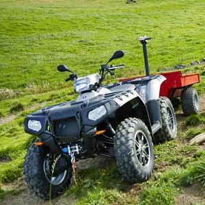 Traktor-ATV, registrert for en person.