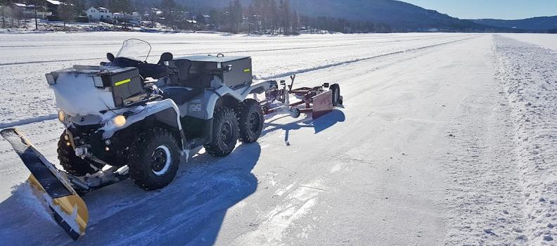 ATV sørger for perfekt skøyteis og høy aktivitet