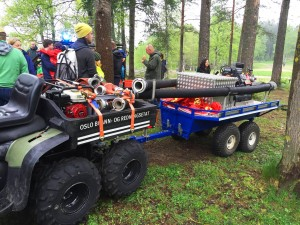 Oslo Brann og Redning viste frem hvordan de bruker ATV i forbindelse med skogbranner.
