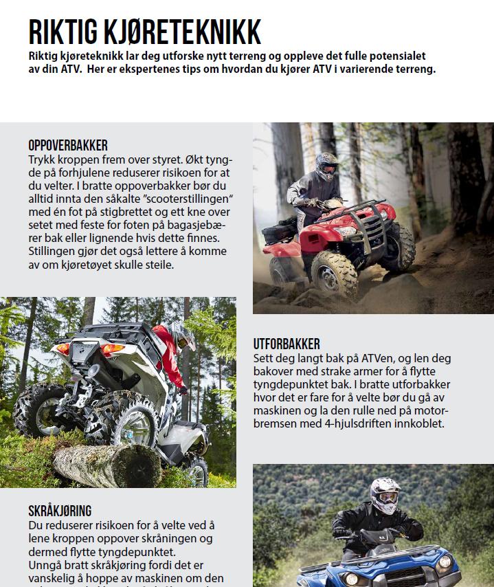 Slik får du maksimal glede av din ATV – se vår brosjyre!