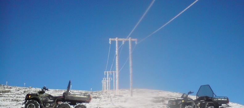 ATV et uunnværlig hjelpemiddel for linjearbeid og kraftlag